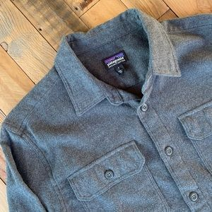 Patagonia gray cozy flannel